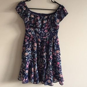 Lulus floral mini dress size Small